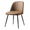 This item: Leyton Khaki and Cherry Wood Chair with Bentwood Back Metal Leg