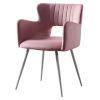 This item: Waverly Pastel Pink and White Armchair with Metal Leg