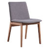 This item: Wilson Gray and Natural Wood Chair with Wood Leg