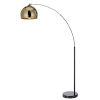 This item: Arquer Gold and Black Arc Floor Lamp