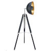 This item: Fascino Black and Gold Tripod Floor Lamp