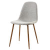 This item: Minimalista Light Gray and Wood Grain Chair, Set of 2