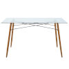 This item: Minimalista Glass and Wood Grain Dining Table