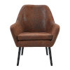 This item: Divano Aged Fabric and Darker Brown Leg Armchair
