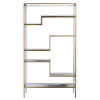 This item: Marmo Faux Marble and Brass Five-Tier Display Bookcase Shelf