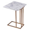 This item: Marmo Faux Marble and Brass C Shape Extension Table with Faux Marble Top