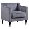 This item: Chester Gray Armchair with Solid Wood Leg