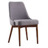 This item: Grayson Sand and Walnut Dining Chair with Solid Wood Leg