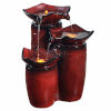 This item: Gradient Red Outdoor Three - Tier Glazed Pots Fountain