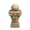 This item: Light Brown Outdoor Sphere Water Fountain with LED Light