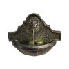 This item: Charcoal Outdoor Lion Head Wall Fountain with LED Light