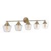 This item: Essex Satin Brass Five-Light Bath Vanity