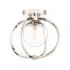 This item: Piltz Polished Nickel One-Light Semi Flush