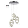 This item: Ovale White Three-Light LED Pendant
