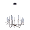 This item: Valdi Polished Nickel 15-Light LED Chandelier