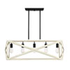 This item: Hansel Cottage White And Espresso 13-Inch Five-Light Chandelier
