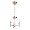 This item: Tarryn Satin Brass Three-Light Convertible Semi Flush