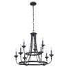 This item: Marlowe Flat Black Nine-Light Chandelier