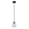 This item: Marlowe Flat Black One-Light Mini Pendant