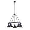 This item: Union Oiled Bronze Gilded Five-Light Outdoor Chandelier