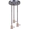This item: Satin Brass Three-Light Mini Pendant Hardware