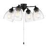 This item: Flat Black 20-Inch LED Fan Light Kit