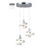 This item: Matte Silver and Chrome Three-Light LED Pendant