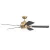 This item: Stellar Satin Brass 52-Inch Ceiling Fan