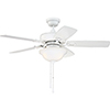 This item: Twist N Click White 52-Inch Ceiling Fan with LED Light