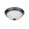 This item: Pro Builder White Three-Light Flush Mount