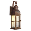 This item: Vincent Weathered Copper Seven-Inch LED Outdoor Wall Lantern