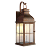 This item: Vincent Weathered Copper LED Outdoor Wall Lantern