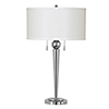 This item: Messina Chrome Two-Light Table Lamp
