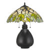 This item: Tiffany Multicolor 16-Inch Two-Light Table Lamp