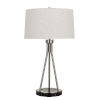 This item: Halle Brushed Steel and Black One-Light Table lamp