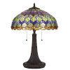 This item: Tiffany Dark Bronze 23-Inch Two-Light Table lamp