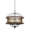 This item: Walnut Four-Light Chandelier