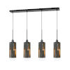 This item: Gray and Black Four-Light Pendant