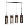 This item: Almeria Pine and Iron Four-Light Pendant