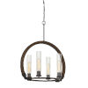 This item: Sulmona Oak and Iron Four-Light Chandelier