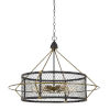 This item: Caserta Antique Brass and Black Six-Light Chandelier