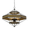 This item: Alicante Gray and Black Six-Light Chandelier