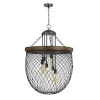 This item: Marion Bronze and Natural Six-Light Chandelier