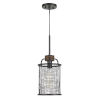 This item: Aberdeen Bronze and Natural One-Light Mini Pendant