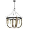 This item: Apulia Oak and Iron Eight-Light Chandelier