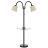 This item: Dark Bronze Two-Light Floor Lamp with Glass Table and USB Charging Port