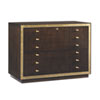 This item: Bel Aire Walnut and Gold Beverly Palms File Chest
