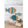 This item: Multi-Colored 23-Inch Wooden Fish Wall Hanging, Set of 3
