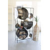 This item: Black Iron and Glass Circle Shelving Unit