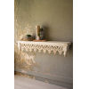This item: Off White Hand Carved Wooden Wall Shelf